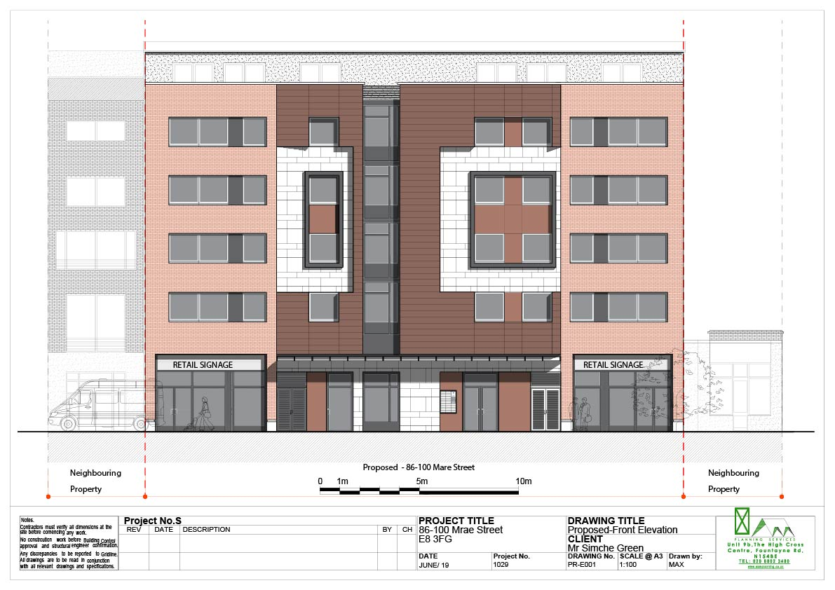 proposed.FRONT ELEVATION