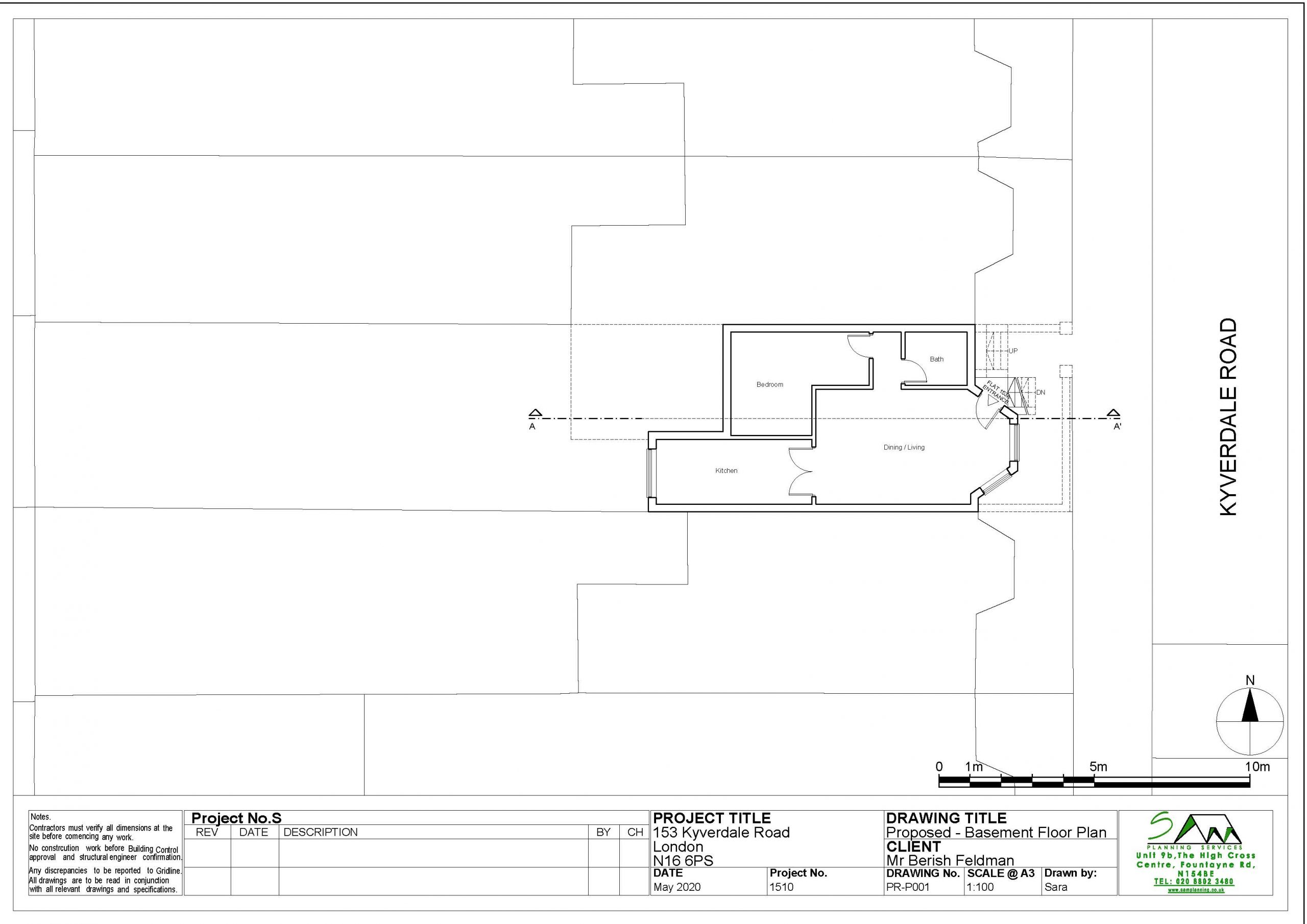 153kyverdaleProposed Basement Floor Plan