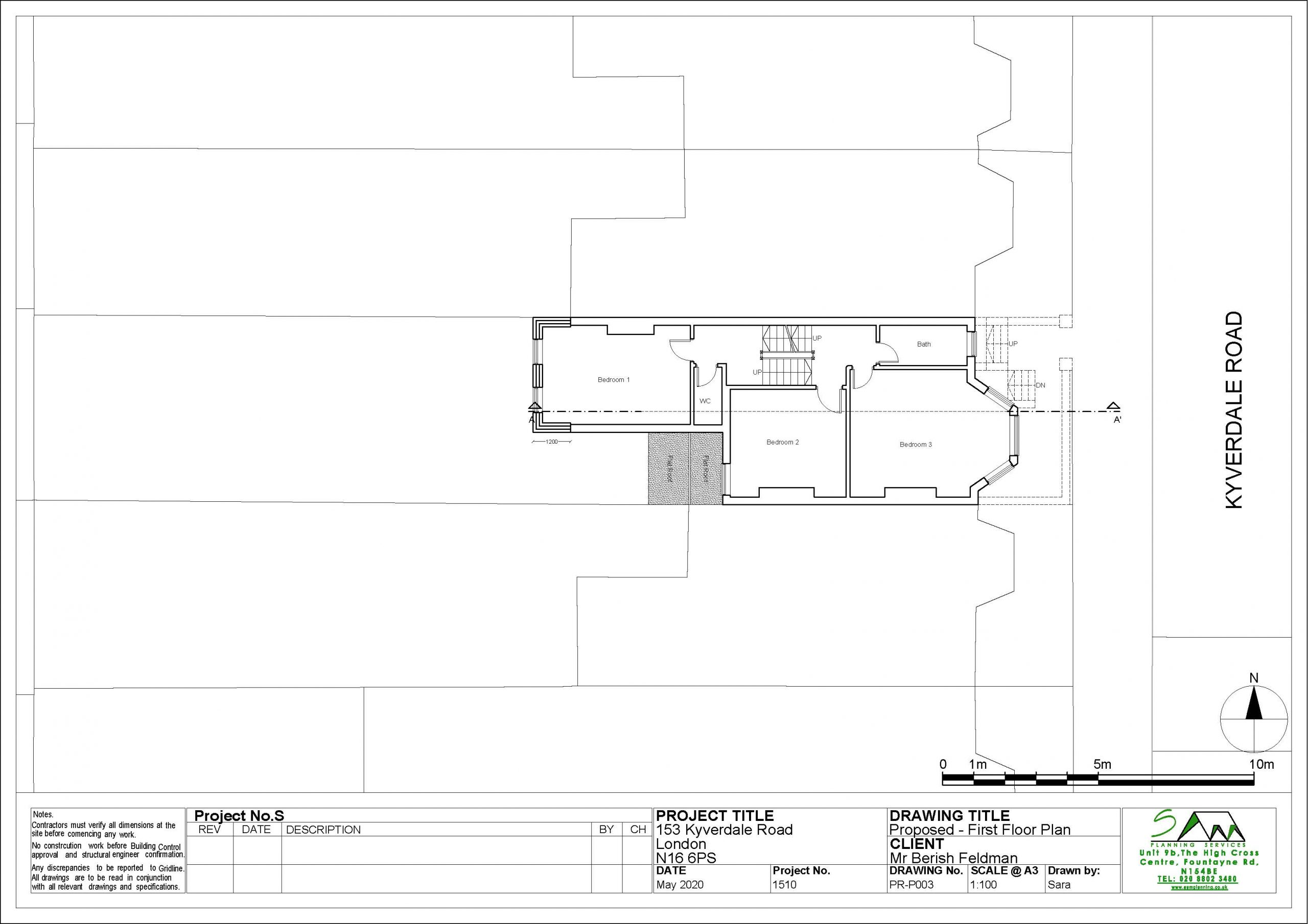 153kyverdaleProposed First Floor Plan