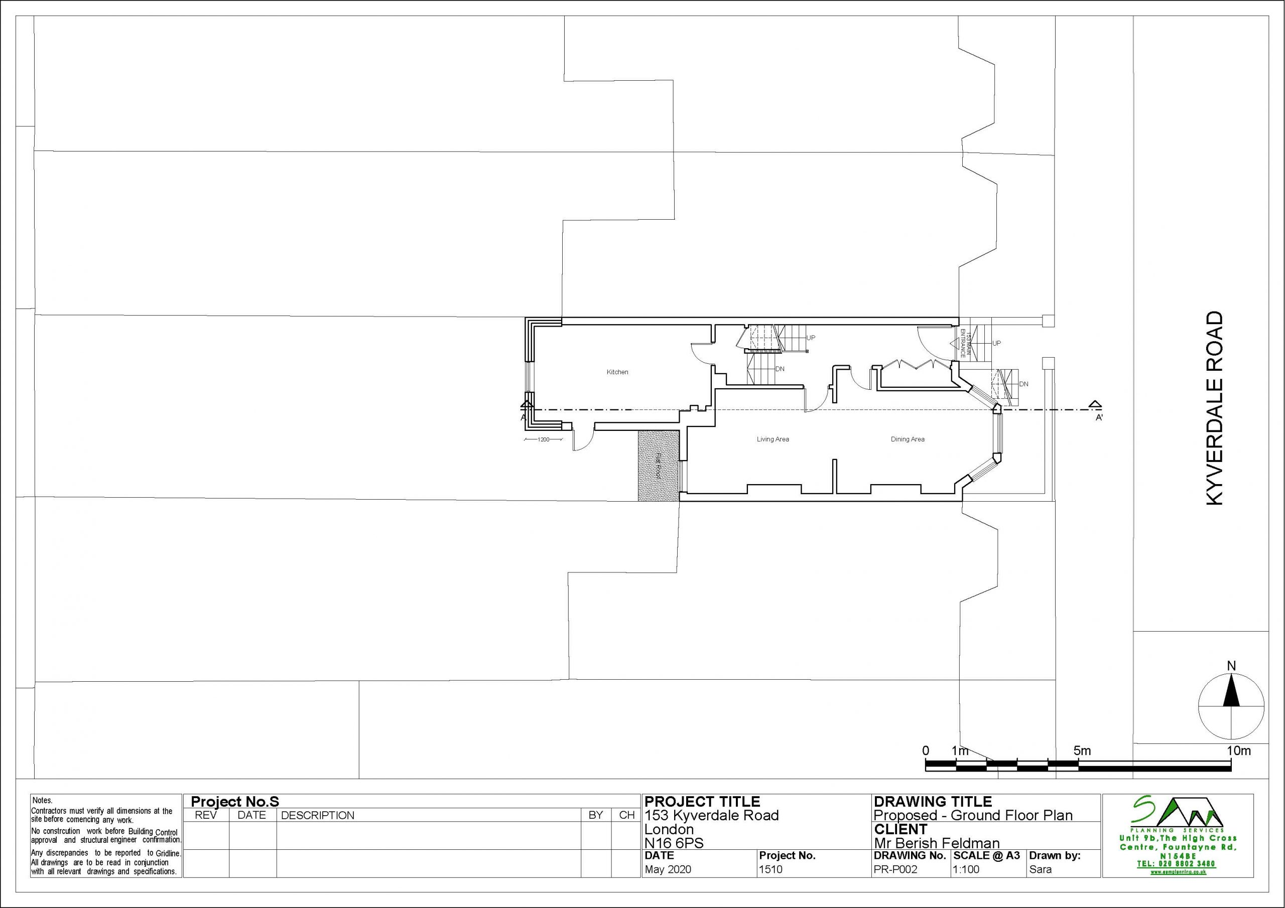 153kyverdaleProposed Ground Floor Plan