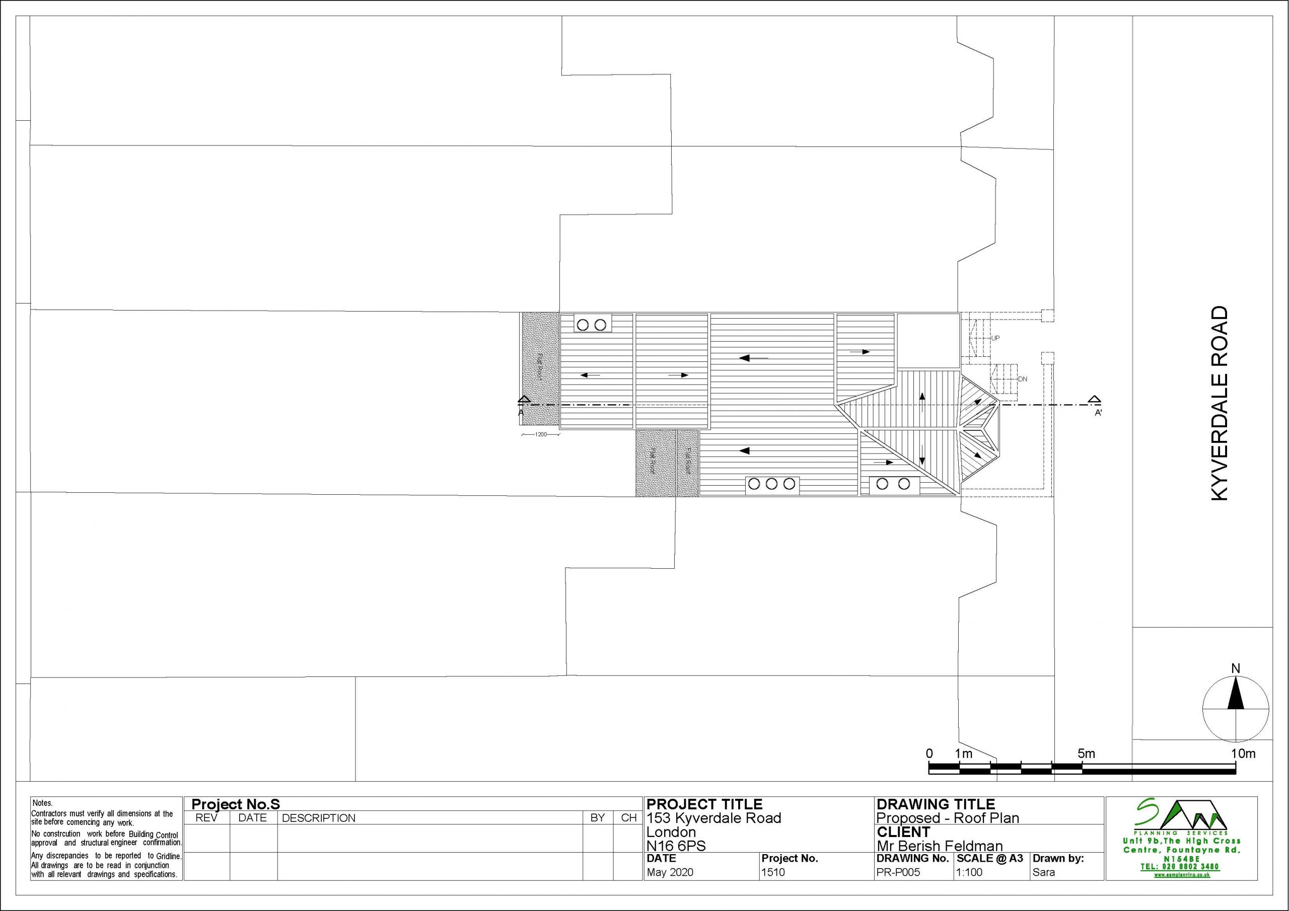 153kyverdaleProposed Roof Plan