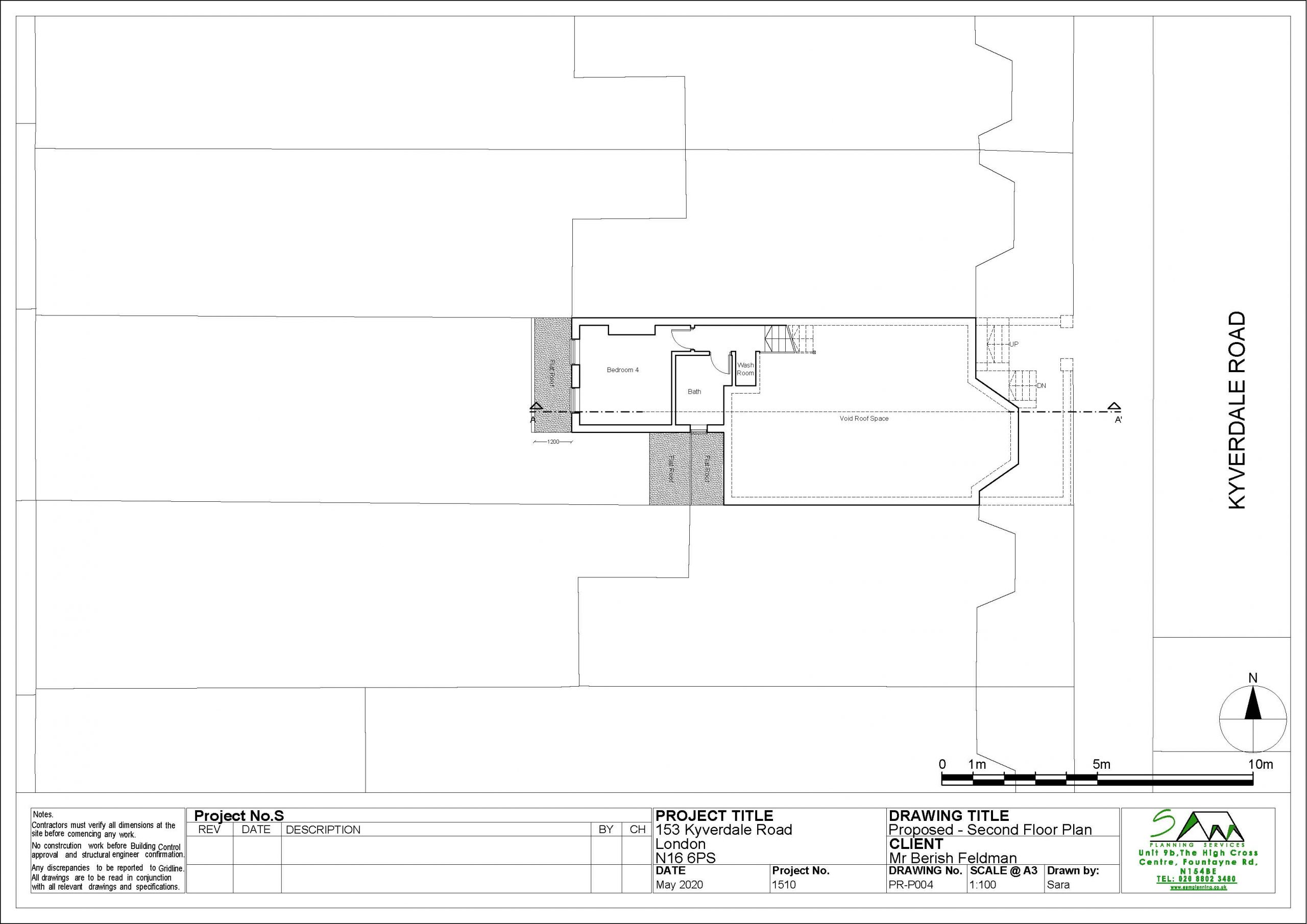 153kyverdaleProposed Second Floor Plan