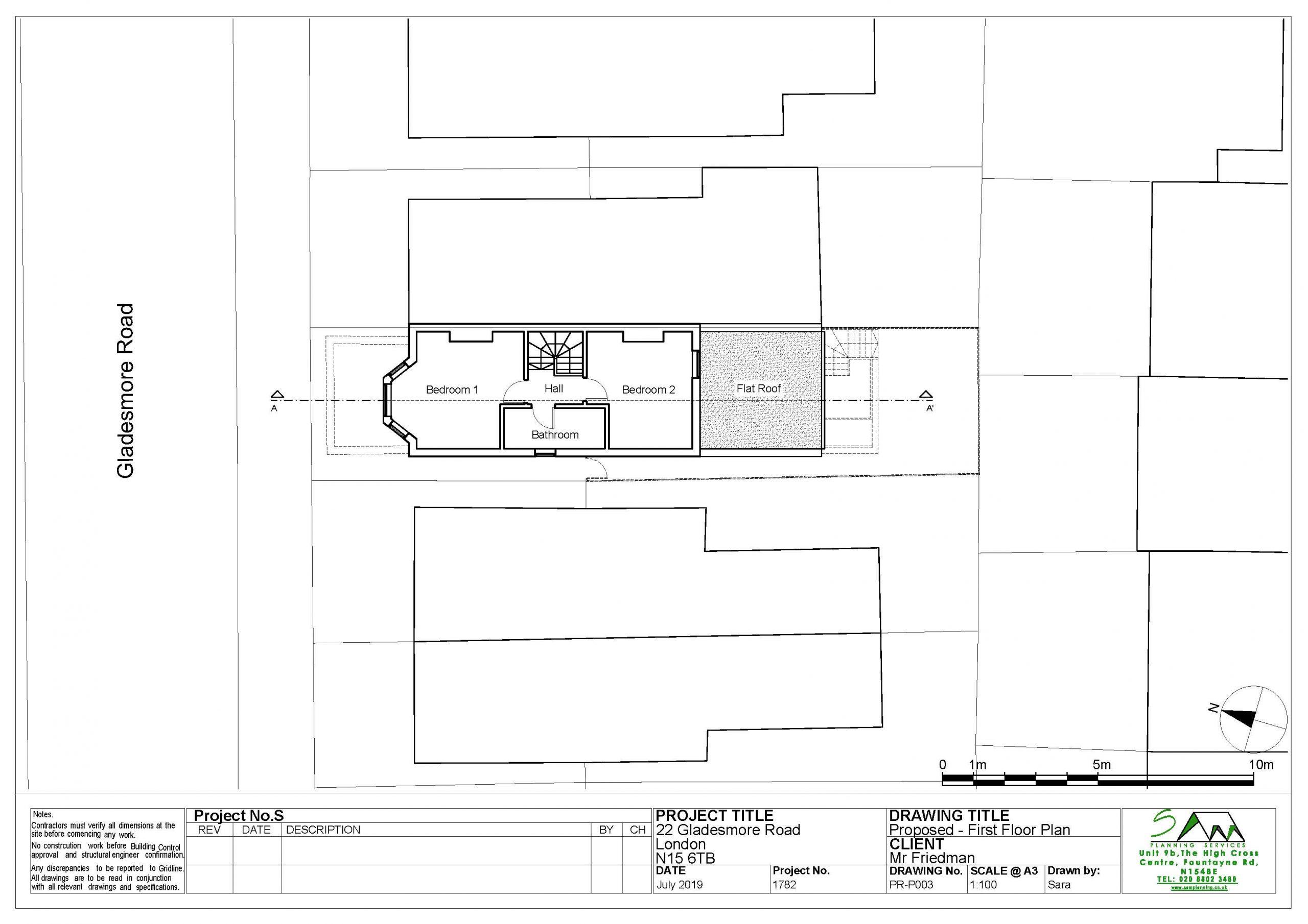 22gladesmoreProposed First Floor Plan