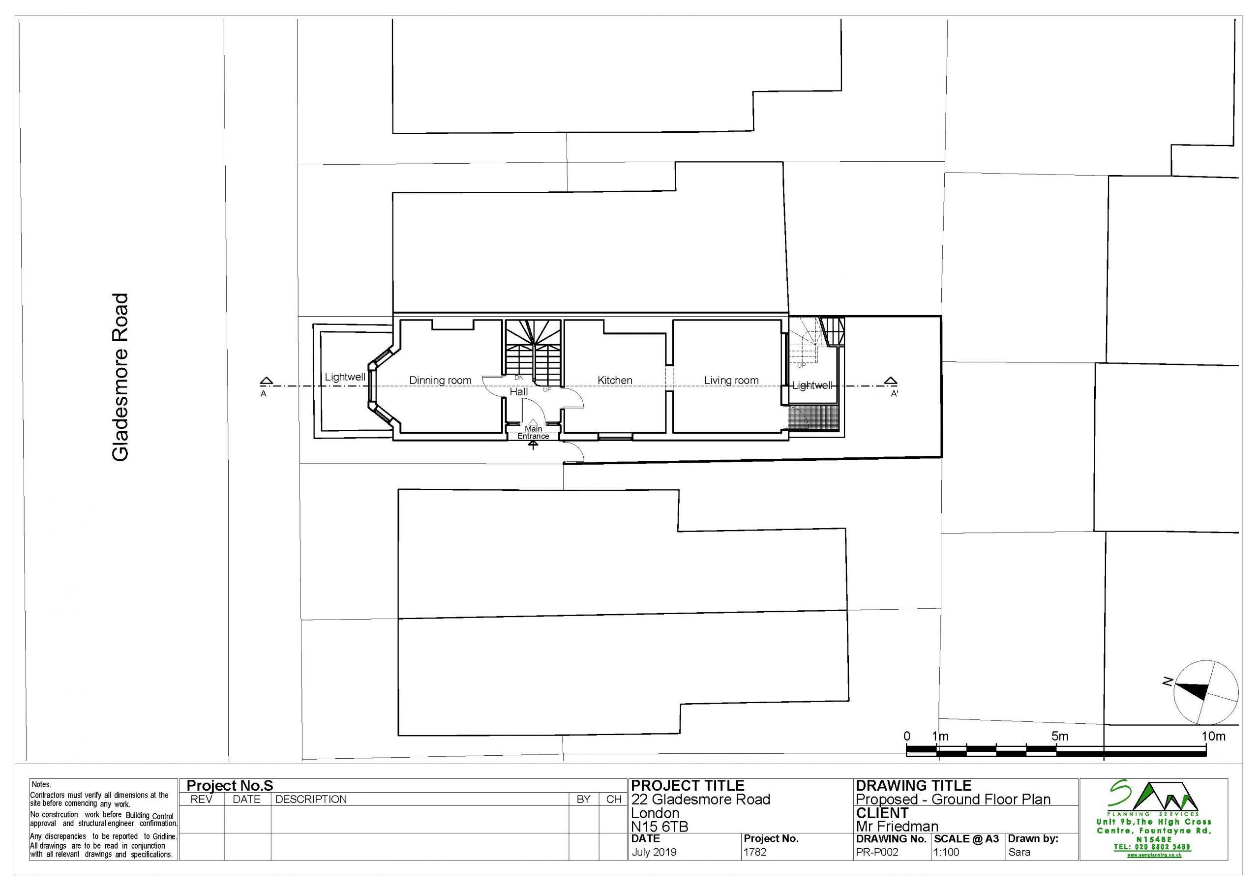 22gladesmoreProposed Ground Floor Plan