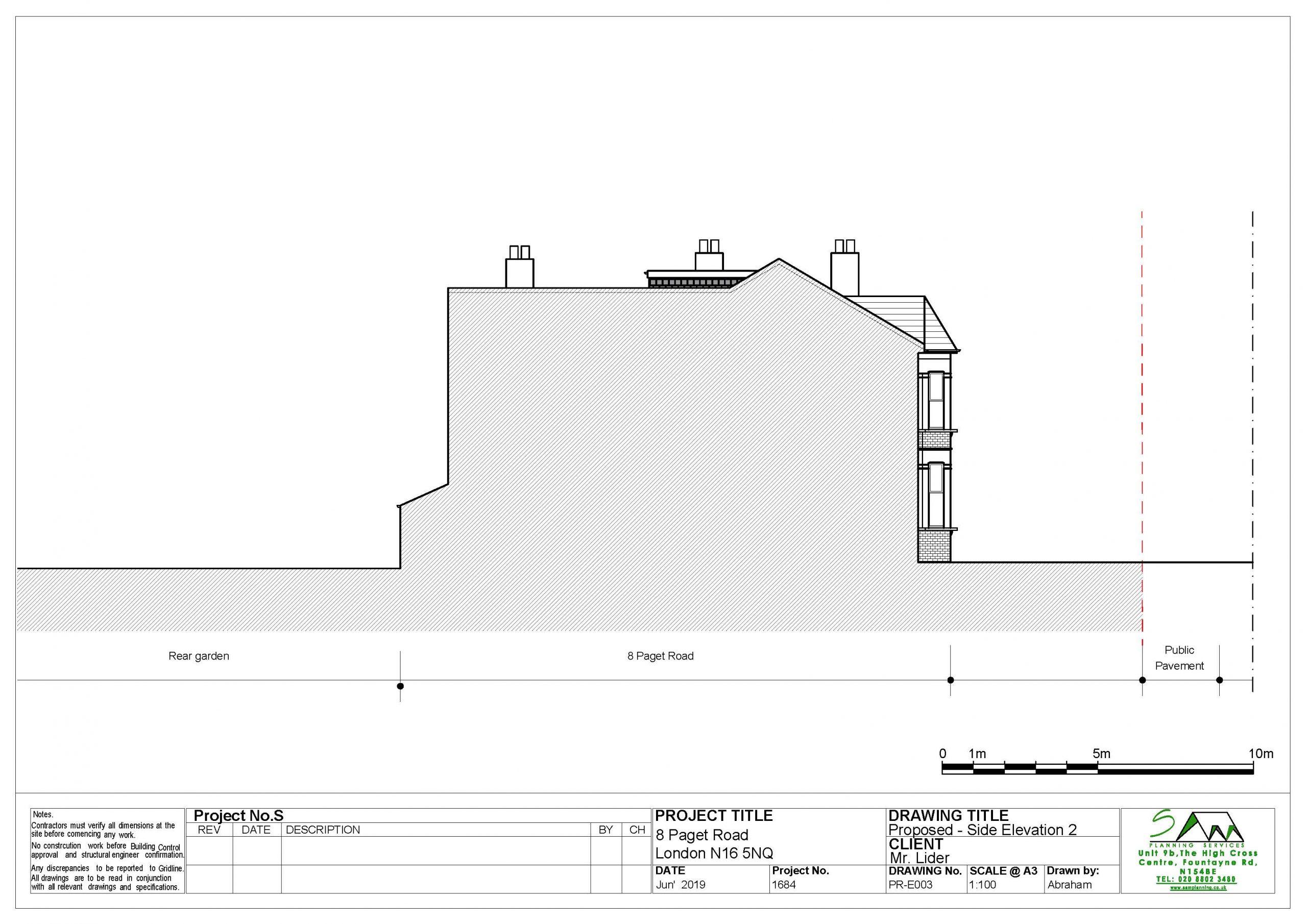 8pagetProposed Side elevation 2